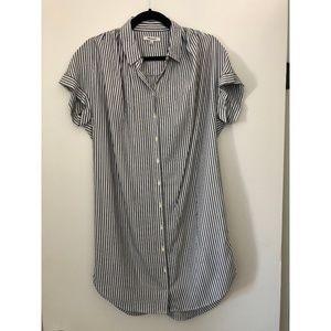 MADEWELL - SHIFT DRESS - BLUE/WHITE STRIPE